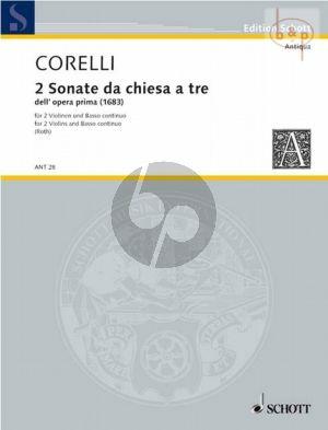 2 Sonaten da Chiesa Op.1 (2 Violins-Bc)