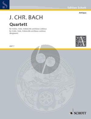 Bach Quartett G-dur Violine-Viola-Violoncello-Cembalo (Part./Stimmen) (Walter Bergmann)