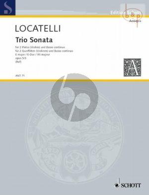 Locatelli Triosonate E-dur Op.5 Nr.3 2 Flutes [Vi.]-Bc (Vc. ad lib.) (edited by Hugo Ruf)