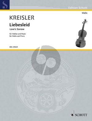 Kreisler Liebesleid - Love's Sorrow Violine und Klavier (Alt-Wiener Tanzweisen II)