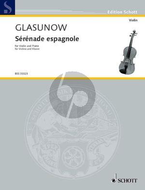 Glazunov Serenade Espagnole Op.20 No.2 Violine und Klavier (Fritz Kreisler) (Grade 7)