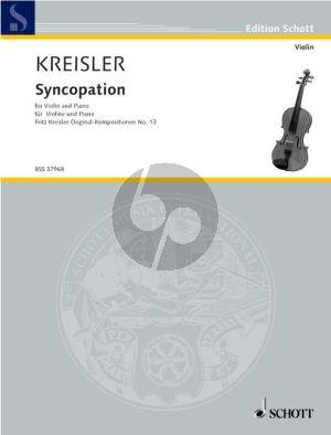 Kreisler Syncopation Violin and Piano (Grade 3 - 4)