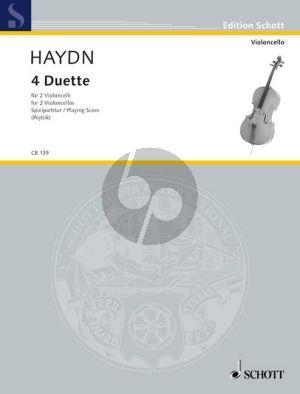 Haydn 4 Duette (Hob.X:1 - Hob.XII:4 - Hob.XII:1 - Hob.XII:3 + 5) (Spielpartitur) (Arpad Pejtsik)