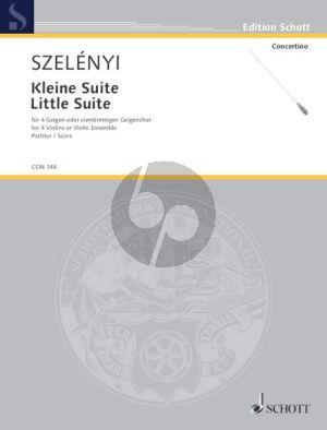 Szelenyi Kleine Suite für 4 Violinen Partitur