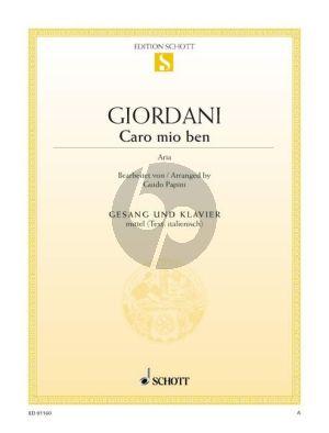Giordani Caro Mio Ben Es-dur (Mittel) (it.) (ed. Guido Papini)