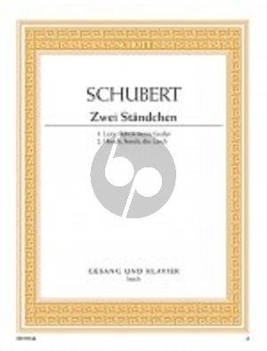 Schubert 2 Standchen D 957/4 / D 889 (Hohe Stimme und Klavier)