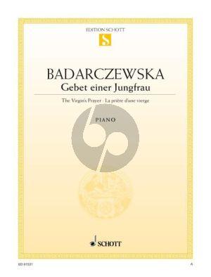 Badarzewska Gebet einer Jungfrau Es-dur Klavier