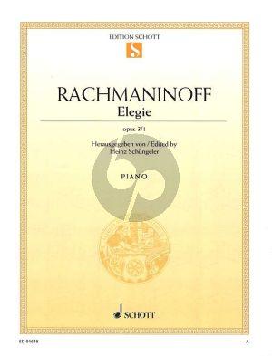 Rachmaninoff Elegie Op.3 No.1 Klavier (Heinz Schungeler)