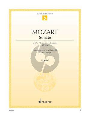 Mozart Sonate C-dur KV 330 Klavier (Walter Georgii)