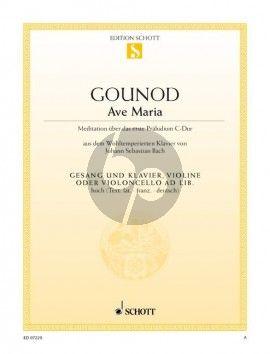 Bach Gounod Ave Maria (Hoch) (lat./fr./dt.)