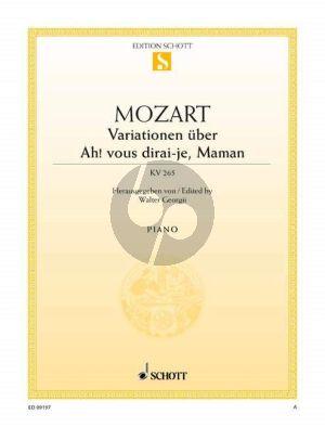 Mozart Variationen Ah! vous dirai-je Maman KV 265 Klavier