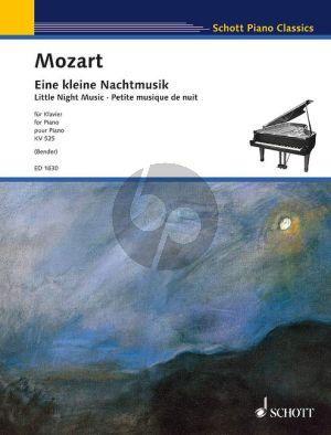 Mozart Eine Kleine Nachtmusik KV 525 Klavier (arr. Rolf Bender)