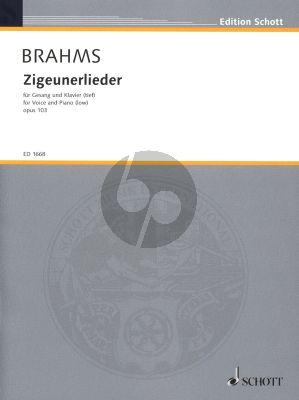 Brahms Zigeunerlieder op.103 Tiefe Stimme und Klavier