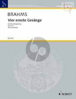Brahms 4 Ernste Gesänge Op. 121 Alt oder Bariton