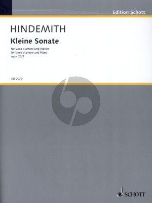 Hindemith Kleine Sonate Op.25 No.2 fur Viola d'Amore und Klavier