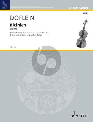 Bicinien (two-part Fantasias from around 1600) (edited by E.Doflein) (Grade 2 - 3)