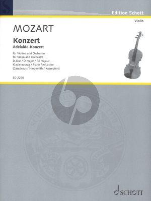 Mozart Konzert D-dur (Adelaide-Konzert) KV Anh.294a (Casadesus) (Kadenzen von Paul Hindemith und Max Kaempfert)