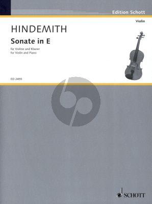 Hindemith Sonate E-dur (1935) fur Violine und Klavier (Grade 4 - 5)