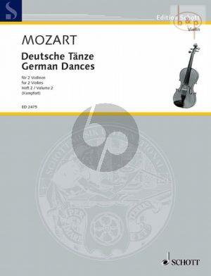 Deutsche Tanze Vol.2 2 Violinen