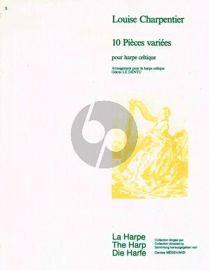 Charpentier 10 Pieces Varies pour Harpe (Odette Le Dentu)