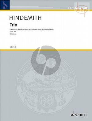 Trio Op.47 (Viola-Heckelphon[Tenor-Saxophone] und Klavier