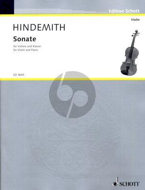 Hindemith Sonata C-major (1939) for Violin and Piano (Grade 4 - 5)