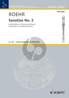 Sonatine No.2 F-major Descant Recorder -Piano