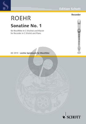 Sonatine No.1 F-major Descant Recorder -Piano