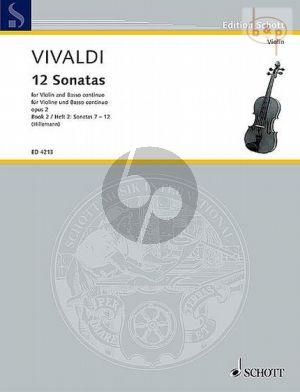 12 Sonaten Op.2 Vol.2 Violine und Bc