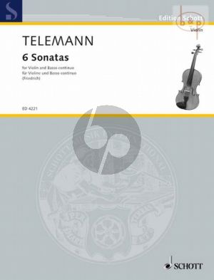 6 Sonaten TWV 41:g1, D1, h1, G1, a1, A1 for Violin-Bc