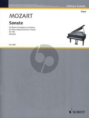 Mozart Sonate C-dur KV 19d for Piano 4 Hands (Alex Rowley)