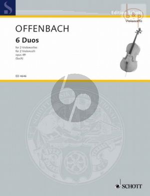 Offenbach 6 Duette Op.49 2 Violoncellos (1st.Position) (edited by Percy Such)