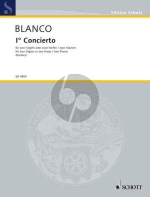 Blanco Concierto No.1 fur 2 Orgeln (Tasteninstrumente) Spielpartitur (oder 2 Harfen oder 1 Harfe und 1 Tasteninstrument) (Macario Santiago Kastner)