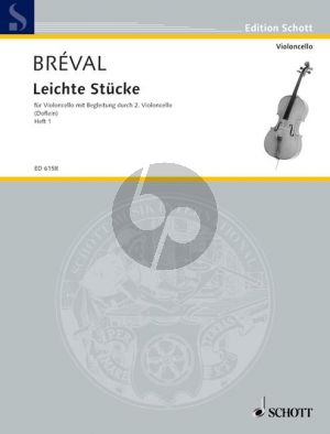Breval Leichte Stucke Vol. 1 2 Violoncellos (Erich Doflein)
