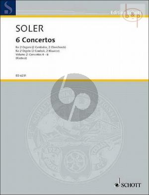 Soler 6 Concertos Vol.2 (No. 4 - 6) 2 Organs or Harpsichords (edited by M.S.Kastner)