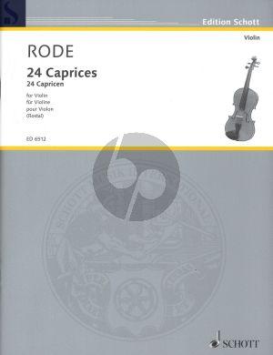 Rode 24 Capricen Violine (Rostal)