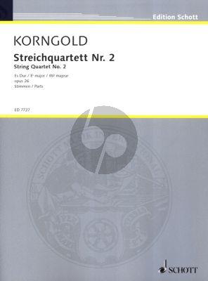Korngold Streich Quartet No.2 Op.26 E-flat major 2 Violinen, Viola und Violoncello (Stimmen)