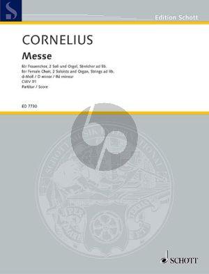 Messe d-moll Frauenchor- 2 Soli und Orgel, Streicher ad lib.