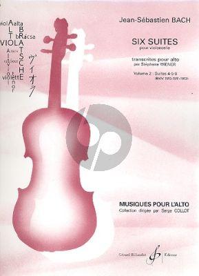 Bach 6 Suites Vol.2 (BWV 1010-1011-1012) (original pour Violoncelle transcrites pour Alto par Stephane Wiener)