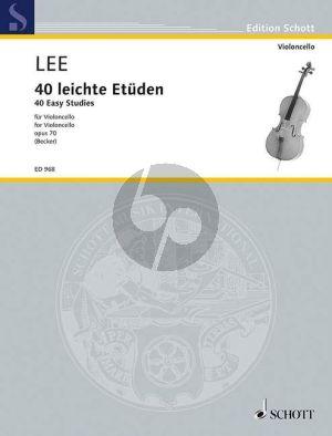 Lee 40 leichte Etuden Op. 70 Violoncello (Becker)
