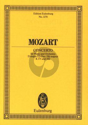 Klavierkonzert No.5 Kv 175 mit Rondo D-Dur KV 382 Taschenpartitur