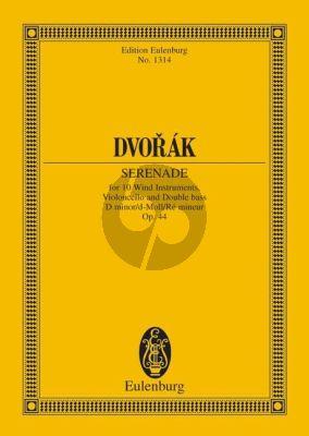 Dvorak Serenade d-moll Op.44 10 Bläser-Violoncello-Kontrabass Studienpartitur
