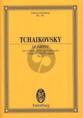 Tchaikovsky Streichquartett No.1 Opus 11 D-dur CW 90 (Studienpartitur)