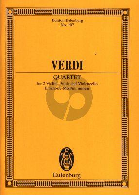 Verdi Quartett e-moll 2 Violinen/Viola und Violoncello (Studienpartitur)