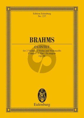 Brahms Quintet F-major Op.88 2 Violins-2 Violas and Violoncello Study Score (ed. Wilhelm Altmann)
