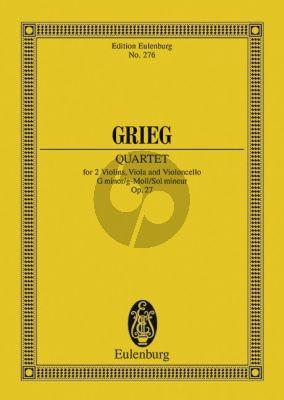 Grieg Quartett G-moll Op.27 Studienpartitur