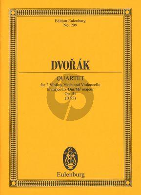 Dvorak Streichquartett Eb Major Opus 51 B92 Study Score