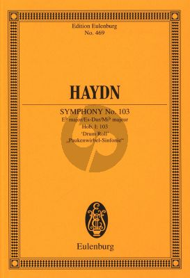 Haydn Symphony No.103 E-flat major Hob. I:103 Drum Roll Study Score (edited by Harry Newstone)