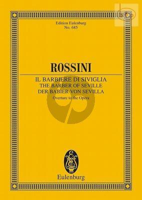 Rossini Il Barbiere de Siviglia Ouverture Study Score (edited by Max Alberti)