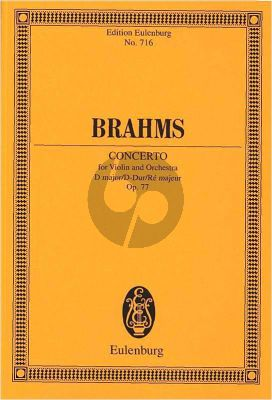 Brahms Concerto D-major Op.77 Violin-Orchestra Study Score (edited by Richard Clarke)